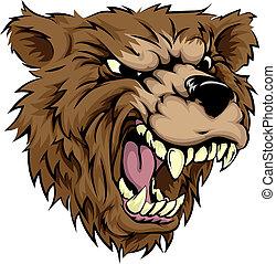 Bear mascot character - An illustration of a fierce bear...