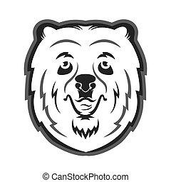 Bear mascot for the sports team. Print on T-shirt