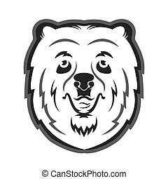 Bear mascot for the sports team. Print on T-shirt