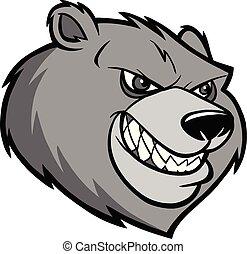 Bear Mascot Head Illustration