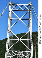 Bear Mountain Bridge, also known as the Purple Heart Veterans Memorial Bridge, in Fort Montgomery in New York state