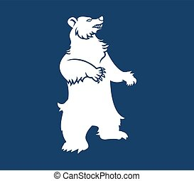 Bear Mountain Silhouette - Vector illustration of bear ...