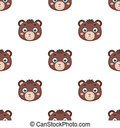 Bear muzzle icon in cartoon style isolated on white background. Animal muzzle symbol stock vector illustration.