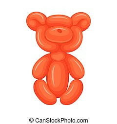 Bear of balloons. Vector illustration on a white background.