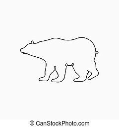 Bear one line drawing.