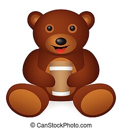 bear paper coffee cup