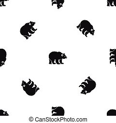 Bear pattern seamless black - Bear pattern repeat seamless...