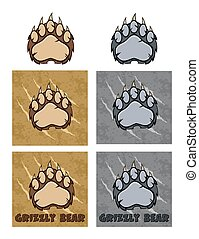 Bear Paw Logo Design Collection