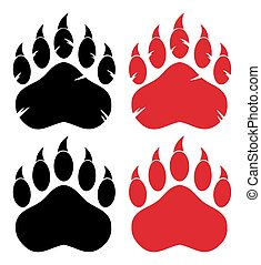 Bear Paw Logo Design Concept. Collection