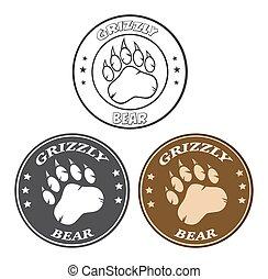 Bear Paw Print Circle Collection