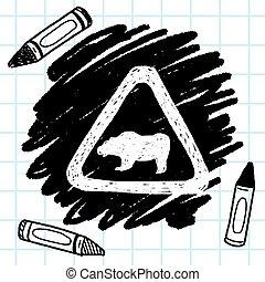 bear sign doodle