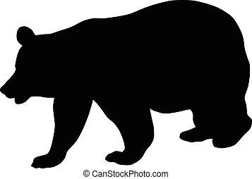 Bear Silhouette - Vector illustration of bear silhouette ...