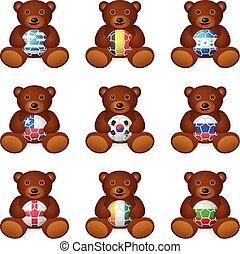 Bear soccer ball flag
