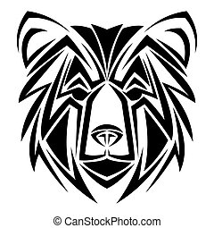 bear tattoo animal design