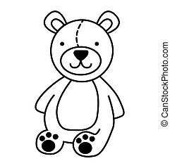 bear teddy cute icon vector illustration design