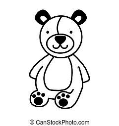 bear teddy toy icon