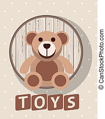 bear teddy toy isolated icon