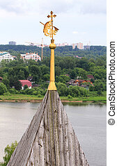 bear the coat of arms of Yaroslavl holding ax
