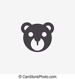 bear toy icon