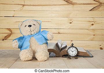 bear toy on a floor