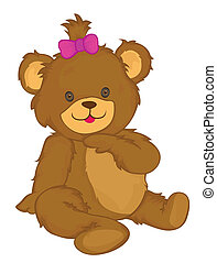Bear Vector Cartoon Illustration