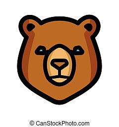 Bear vector icon