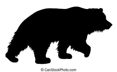 Bear - Vector illustration of brown bear silhouette