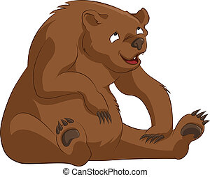 Bear - Vector image of funny cartoon brown bear