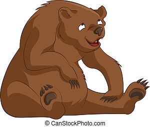 Bear - Vector image of funny cartoon brown bear