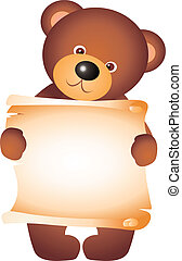 Bear vector - teddy bear isolated on white background. ...
