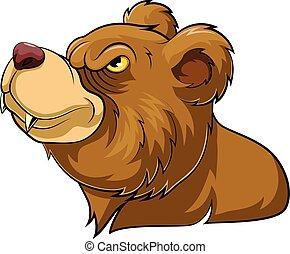 Bear wild animal head mascot
