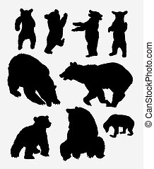 Bear wild animal silhouette