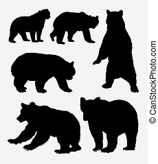 Bear wild animal silhouette