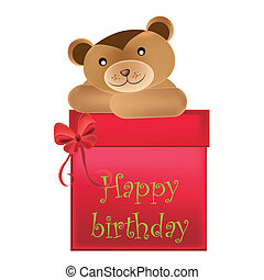 bear wishes happy birthday
