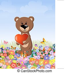bear with a valentine