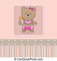bear with baby bottle