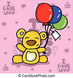 Bear with balloon valentine collection