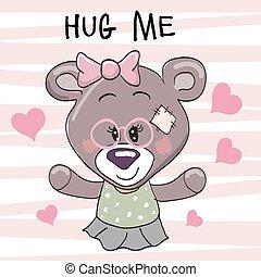 Bear with hearts