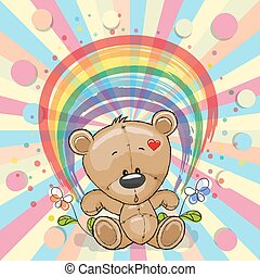 Bear with rainbow