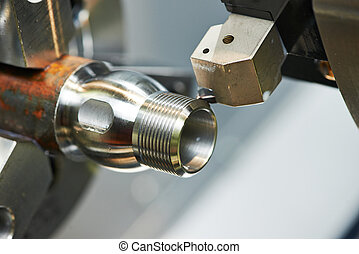 bearbeta, maskinen bearbetar, metall, fräsning