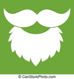 Beard and mustache icon green