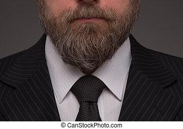 Beard - Close-up portrait of beard of mature businessman on ...