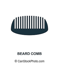 Beard Comb icon. Flat style icon design. UI. Illustration of beard comb icon. Pictogram isolated on white. Ready to use in web design, apps, software, print.