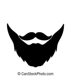 Beard icon vector