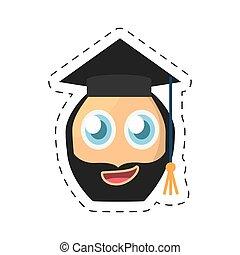 beard male emoticon image