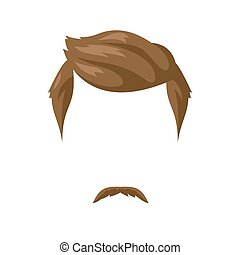 Beard, mustache and hairstyle