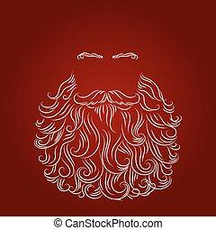 beard santa red background