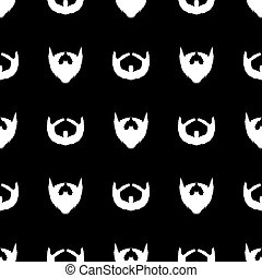 Beard Silhouette Seamless Pattern