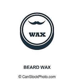 Beard Wax icon. Flat style icon design. UI. Illustration of beard wax icon. Pictogram isolated on white. Ready to use in web design, apps, software, print.