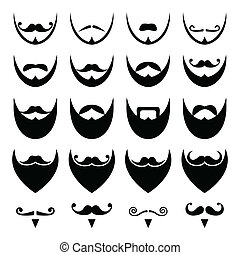 Beard with moustache or mustache - Different styles on beard...